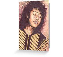 PORTRAIT OF JOAN ARMATRADING Greeting Card