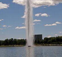 Captain Cook Memorial Fountain, Canberra Australia by Patty Boyte