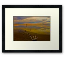 Salton Sea Dawn Framed Print