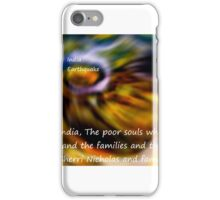 God bless the people In India's Earthquake iPhone Case/Skin