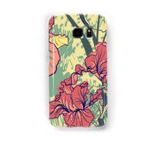 SeaSeamless pattern with decorative  iris flower in retro colors. mless pattern with decorative  iris flower in retro colors.  Samsung Galaxy Case/Skin
