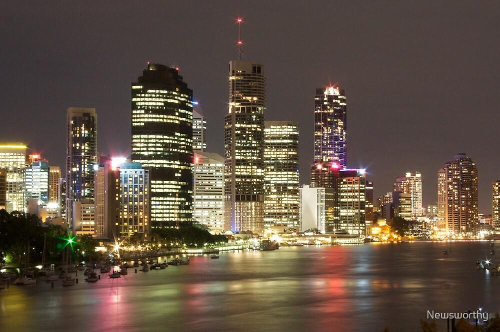 Brisbane CBD from Kangaroo Point 4 by Newsworthy