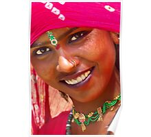Tribal Woman-Rajasthan Poster