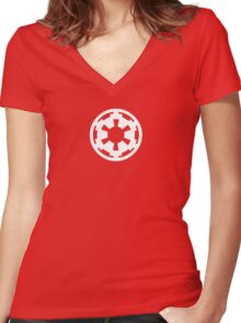 Imperial Wheel Women's Fitted V-Neck T-Shirt