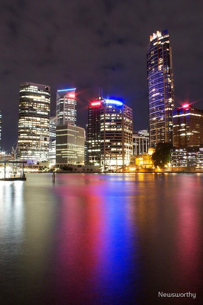Brisbane CBD from Kangaroo Point 5 by Newsworthy