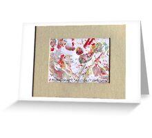 ABSTRACT GEL MONOPRINT Greeting Card