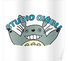 My Neighbour Totoro cute illustration with type Poster