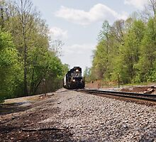 Train coming this way by paulboggs