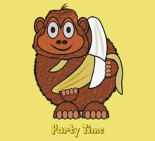 Party Time Chimp and Banana design Kids Clothes