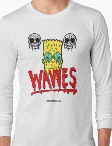 "WAVVES ""Drippy"" Design Long Sleeve T-Shirt"
