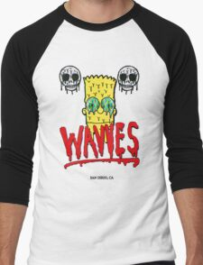 "WAVVES ""Drippy"" Design Men's Baseball ¾ T-Shirt"