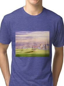 Saint Andrews Golf Course 17Th Green Tri-blend T-Shirt