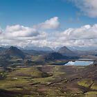 Iceland - Panorama over Alftavatn lake  by thonycity
