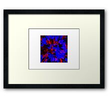 sd Abstract blue red 1C Framed Print