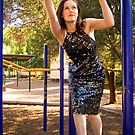 Sarah takes her sequinned dress for a swing by Elana Bailey
