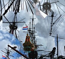 MASTS,BLOCKS, ROPES and RIGS ON THE BATAVIA by Johan  Nijenhuis