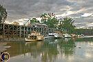 Evening At Echuca Wharf by mspfoto