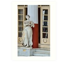 Sculpture of the Muse Terpsichore at the Achillon Palace, Corfu Art Print