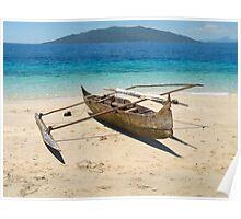 Indigenous canoe Poster