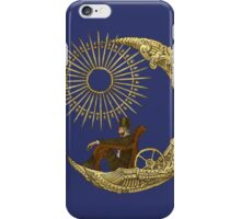 Moon Travel (Blue) iPhone Case/Skin
