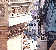 """Aspire"" Cathedral of Notre Dame Watercolor by Paul Jackson"