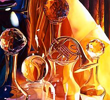 """Backstage"" Art Glass Watercolor by Paul Jackson"