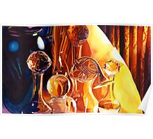 """""""Backstage"""" Art Glass Watercolor Poster"""