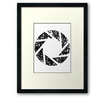 Aperture Science Logo Framed Print
