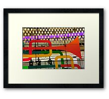 Trumpets On Glass Framed Print