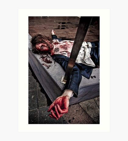 Death of a Zombie - Breaking All the Zombie Rules Art Print