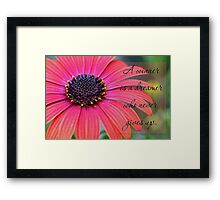A winner is a dreamer who never gives up. Framed Print