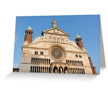 The beautiful cathedral of cremona Greeting Card
