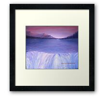 River Waterfalls Framed Print
