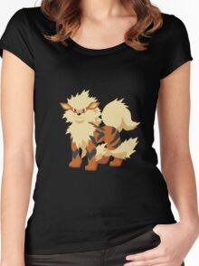 Arcanine Pokemon Simple No Borders Women's Fitted Scoop T-Shirt