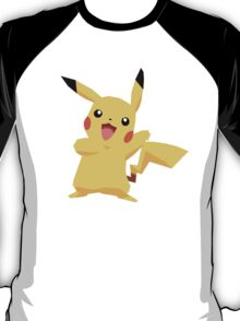 Pikachu Pokemon Simple No Borders T-Shirt