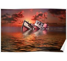 Sinking Boat Poster