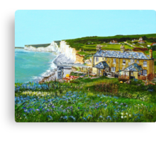 Bluebells at Birling Gap Canvas Print