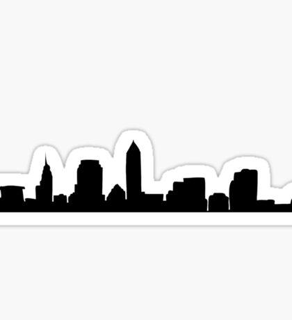 Cleveland Ohio Skyline: I Sticker