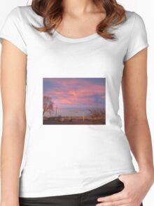 Pink Sky Women's Fitted Scoop T-Shirt