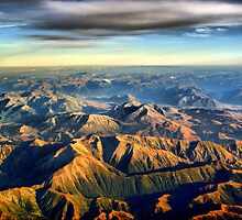 New Zealand Southern Alps by Eyal Geiger
