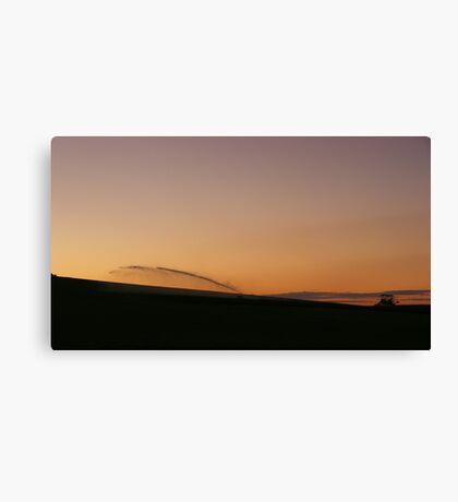 sunset magic over irrigated paddocks  Canvas Print