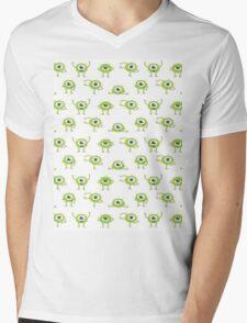 Mike Wazowski Pattern Mens V-Neck T-Shirt