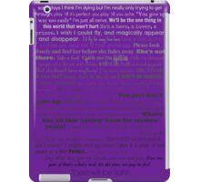 Natalie Goodman Lyrics White to Black iPad Case/Skin