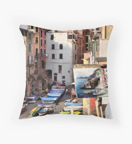 Pittura Riomaggiore II Throw Pillow