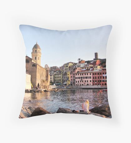 Vernazza Throw Pillow