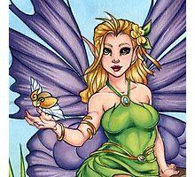Woodland Fairy Friend Scarf Photographic Print