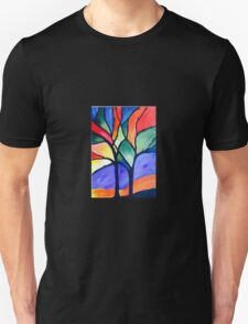 Stained Glass Tree Unisex T-Shirt