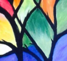 Stained Glass Tree Sticker