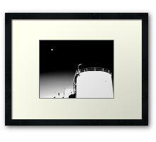 Moon & Oil  Framed Print