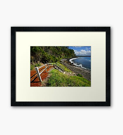 Bannister Point - Mollymook Framed Print